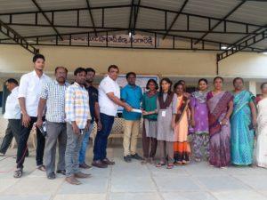 Ranga Reddy జిల్లా Shabad ప్రభుత్వ పాఠశాలలో hope foundation అద్వర్యంలో ముగ్గుల పోటీ