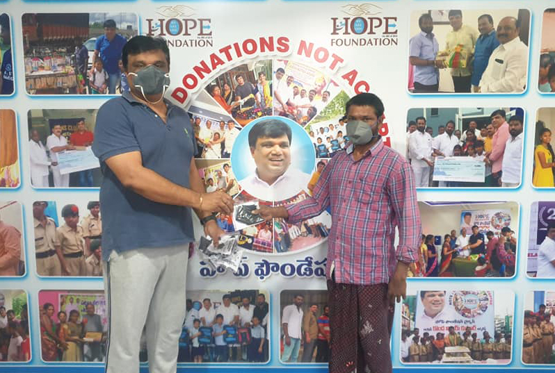 DAY 63….Distributed Masks at Hope Foundation Office…