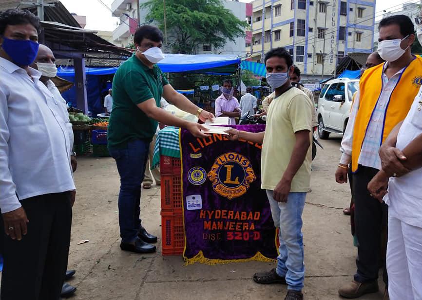 Distributed Masks at Nallagandla Vegetable Market…
