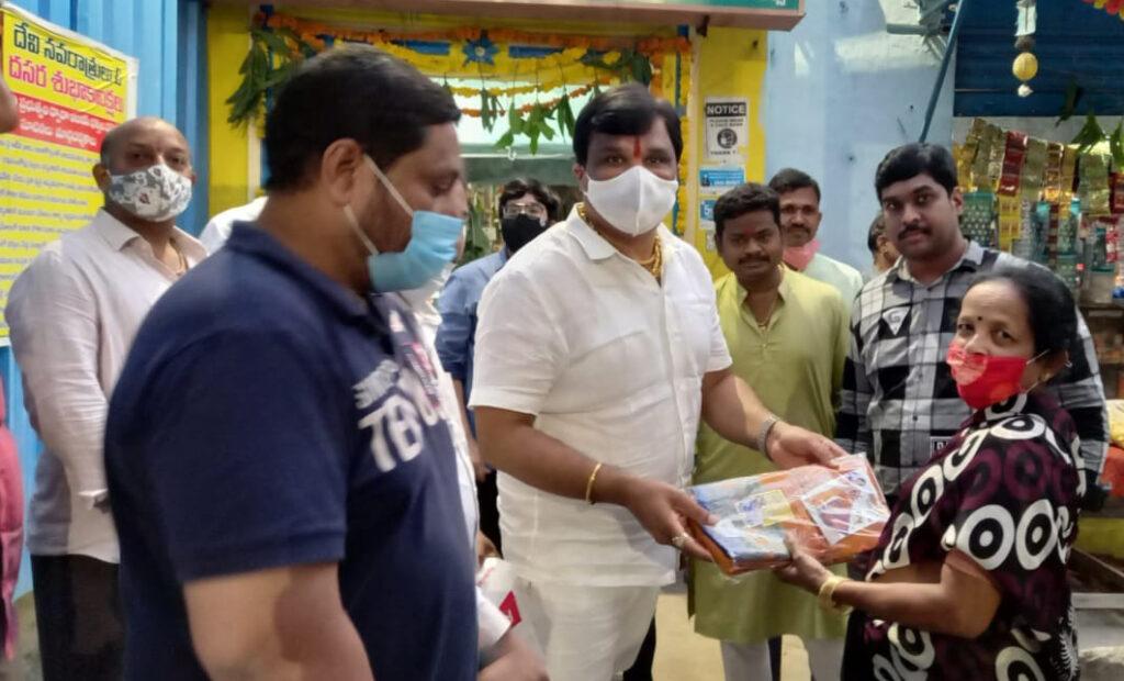 Saree distribution at Taranagar Tulja Bhavani Temple…